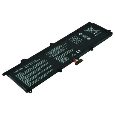 2-Power 7.4V 5000mAh Li-Polymer Laptop Battery Notebook reserve-onderdeel - Zwart