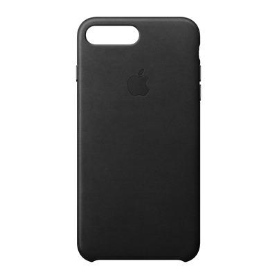 Apple mobile phone case: Leren hoesje voor iPhone 8 Plus/7 Plus - Zwart