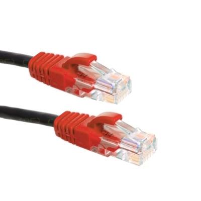 EECONN Cat.5e U/UTP Cross-over kabel, AWG24, PVC, Zwart, 2.5m Netwerkkabel