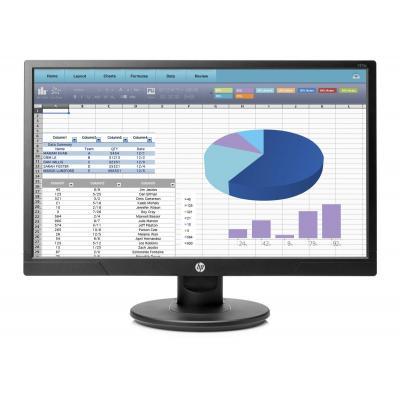 "Hp monitor: 20.7"" Full-HD  - Zwart"