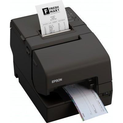 Epson pos bonprinter: TM-H6000IV (034): Serial, w/o PS, EDG, MICR - Zwart