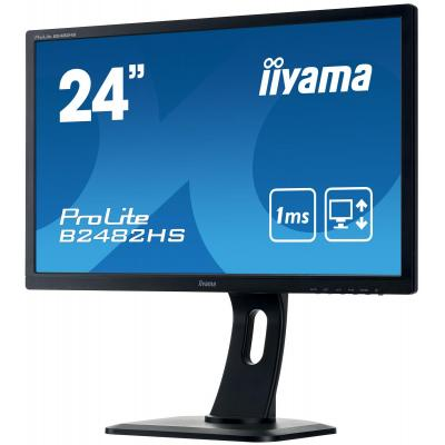 "Iiyama monitor: ProLite B2482HS-B1 24"" Full HD TN - Business - Zwart"