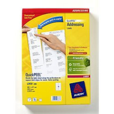 Avery QuickPEEL Addressing Labels Etiket - Wit
