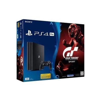 Sony spelcomputer: PlayStation 4 Pro 1TB + Gran Turismo Sport - Zwart