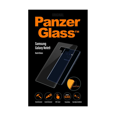 PanzerGlass SAMSUNG GALAXY NOTE9 BACK GLASS BLACK, CURVED EDGES Screen protector - Transparant