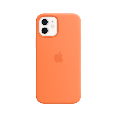 Apple Siliconenhoesje met MagSafe voor iPhone 12 | 12 Pro - Kumquat Mobile phone case - Oranje