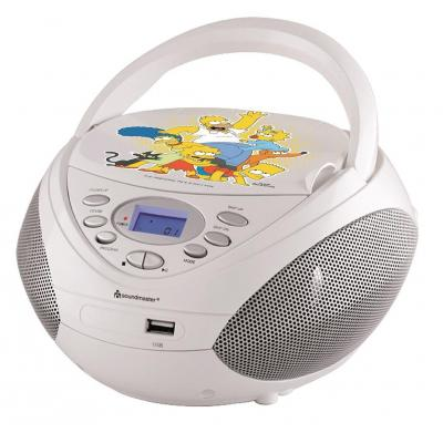 """Soundmaster CD-radio: Stereo radio with CD/MP/USB and resume-function """"THE SIMPSONS"""""""