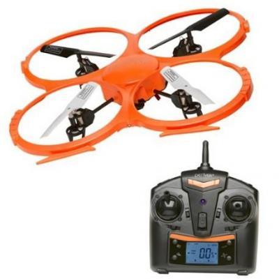 Denver drone: 2,4GHz drone met ingebouwde 2mpixel HD-camera. - Zwart, Oranje, Wit
