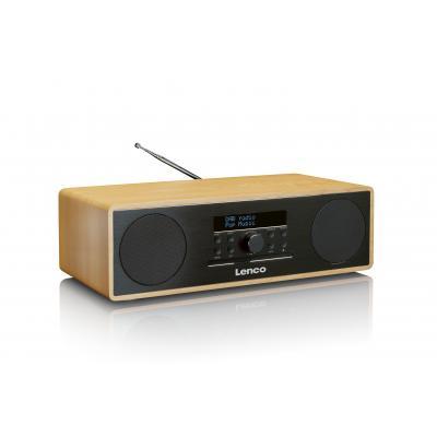 Lenco CD-radio: DAR-070 - Zwart, Eiken