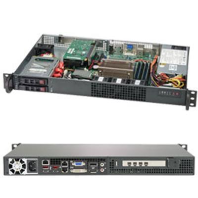 Supermicro SuperServer 1019C-HTN2 Server barebone - Zwart