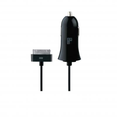 Behello oplader: Car Charger Wired 30 Pin 1.2m 2.1A Black - Zwart