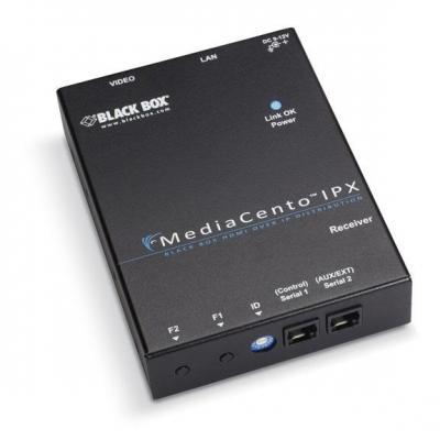 Black box AV extender: Full HD, WUXGA, HDMI F, Interconnect/LAN, 100–240 VAC, 50–60 Hz - Zwart