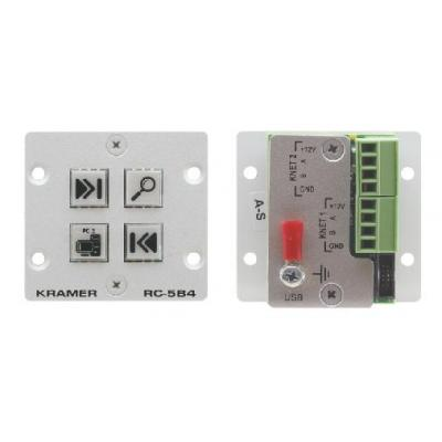 Kramer Electronics Wall Plate Insert - 4- Button Auxiliary Control Panel drukknop-panel - Wit
