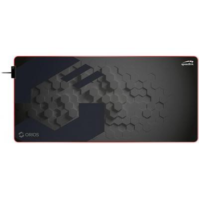 Speed-Link LED, 908 × 424 × 3mm (W × D × H), USB A, 1.45 m, Black Muismat - Zwart