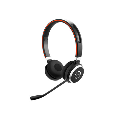 Jabra headset: Evolve 65 UC Stereo - Zwart