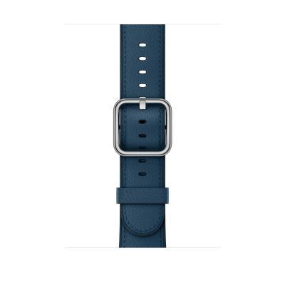 Apple : Kosmosblauw bandje, klassieke gesp (42 mm)