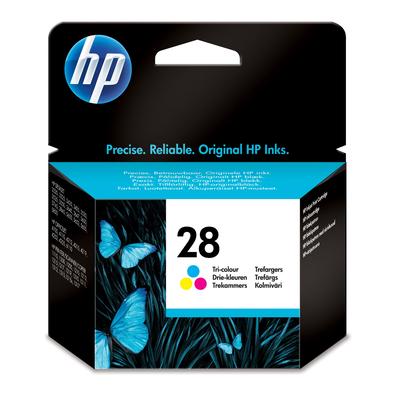 Hp inktcartridge: 28 originele drie-kleuren inktcartridge - Cyaan, Magenta, Geel
