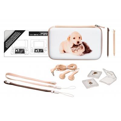 Bigben interactive spel accessoire: Nintendo New 2DS XL accessoirepakket voor N2DS XL en N3DS XL - Puppy - Beige, Wit
