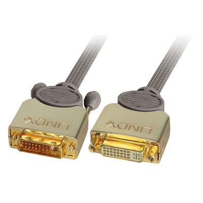 Lindy DVI kabel : 37150 - Grijs