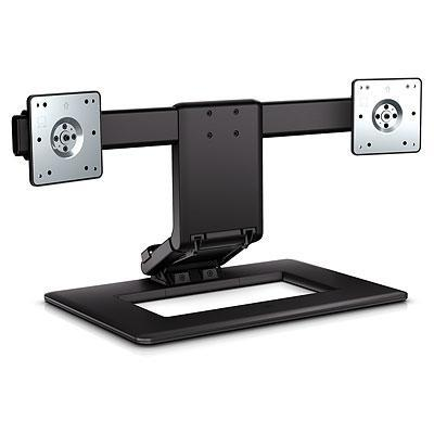 HP Adjustable Dual Display Stand monitorarm - Zwart