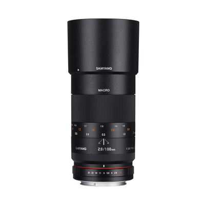 Samyang 100mm F2.8 ED UMC Macro Camera lens - Zwart