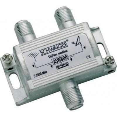 Schwaiger kabel splitter of combiner: ASW800 - Zilver