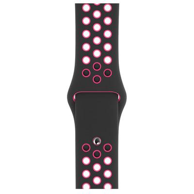 Apple 40 mm Sportbandje van Nike - Zwart/Pink Blast - S/M en M/L