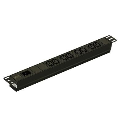 APC Easy PDU EPDU1016B, Basic, 1U, 16A, 230V, (8x)C13, C20 stekker Energiedistributie - Zwart