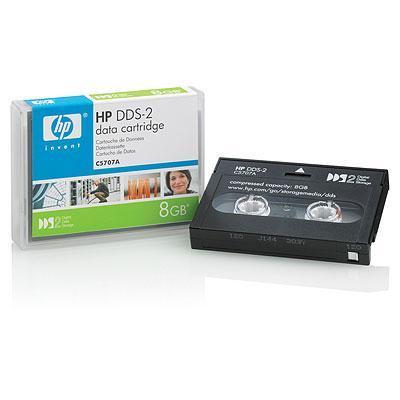 Hewlett packard enterprise datatape: DDS-2 8 GB Data Cartridge (120m) - Zwart