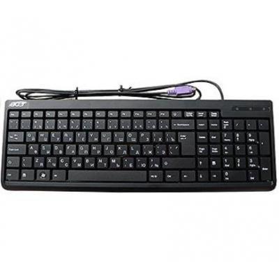 Acer toetsenbord: Keyboard (English), PS/2, Black - Zwart, QWERTY