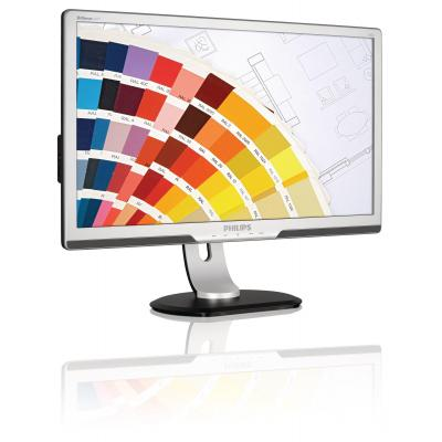 Philips monitor: Brilliance LED-monitor 241P3LYES/00 - Zilver (Approved Selection Standard Refurbished)