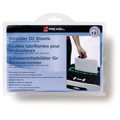 Rexel Oil Sheets - per Pak van 12 Papier-shredder accesoire - Blauw
