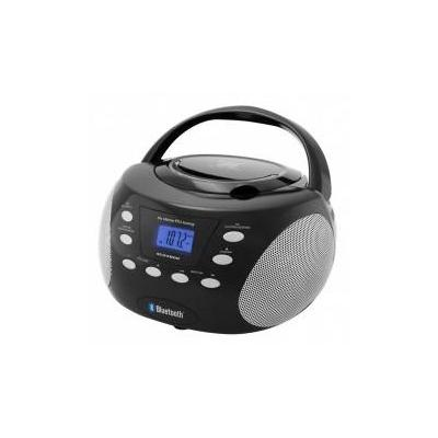 Soundmaster CD-radio: CD-Boombox with Bluetooth3.0, PLL FM/FM-stereo radio, Black - Zwart