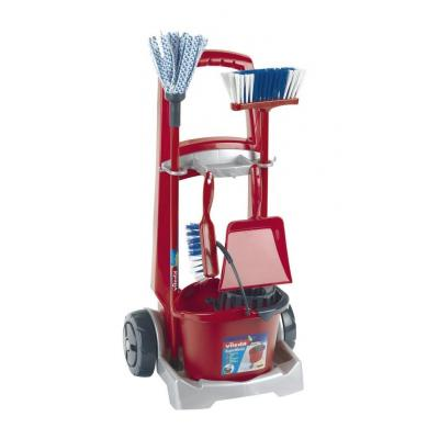 Theo klein role play toy: Vileda cleaning trolley - Rood