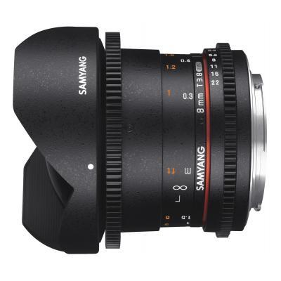 Samyang 8mm T3.8 VDSLR UMC Fish-eye CS II Camera lens - Zwart