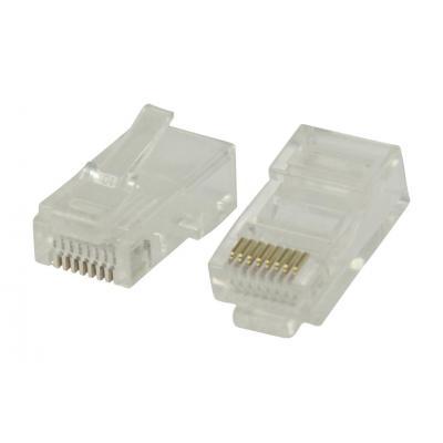 Valueline RJ45 connectors for stranded UTP CAT5 cables Kabel connector - Transparant