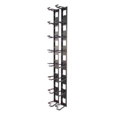 APC Vertical Cable Organizer, 8 Cable Rings, Zero U Rack toebehoren - Zwart