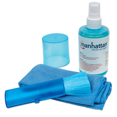 Manhattan LCD Cleaning Kit, Alcohol-free, Includes Cleaning Solution, Brush and Microfibre Cloth Reinigingskit .....