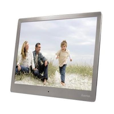 """Hama fotolijst: """"Steel"""" Basic Digital Photo Frame, 25.4cm 10.0"""" TFT LED display in 4:3 format - Zilver"""