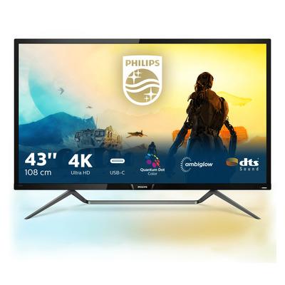 Philips M Line Momentum 4K HDR-scherm met Ambiglow Monitor - Zwart