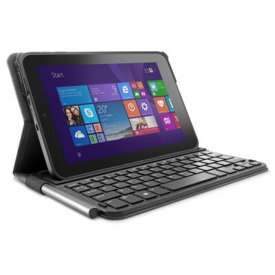 Hp mobile device keyboard: Pro Tablet 408 Bluetooth toetsenbordcase - Zwart, Grafiet