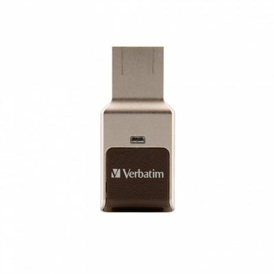 Verbatim Fingerprint Secure USB flash drive - Zilver