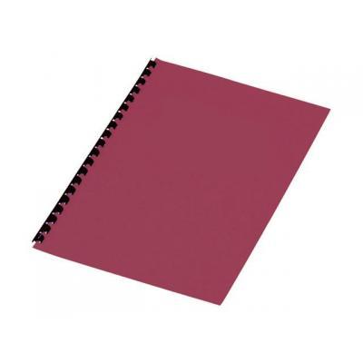 Staples binding cover: Schutblad SPLS A4 kart 250g rood/pak 100