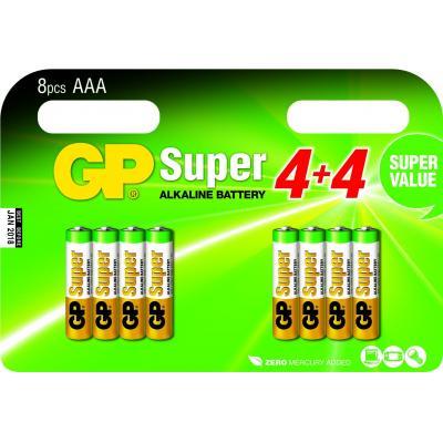 GP Batteries Super Alkaline AAA batterij - Multi kleuren