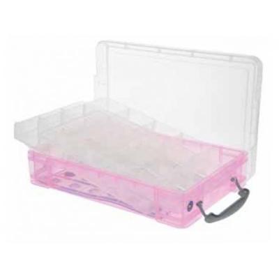 Really useful boxes archiefdoos: Gekleurde transparante kunststof, 4L - Roze