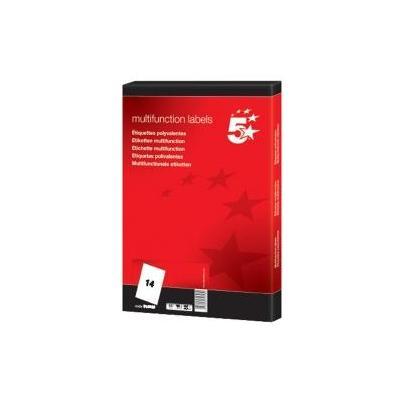 5star etiket: Etiketten ft 99,1 x 38,1 mm (b x h), ronde hoeken, 1.400 etiketten - Wit