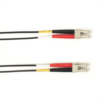 Black Box 2 Meter Duplex Fiber Optic Patch Cable, Multimode, 50 Micron, OM3, OFNR, Plenum, LCLC, Black, 2M .....
