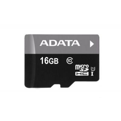 Adata flashgeheugen: 16GB microSDHC Class 10 UHS-I + microReader Ver.3 - Zwart, Grijs