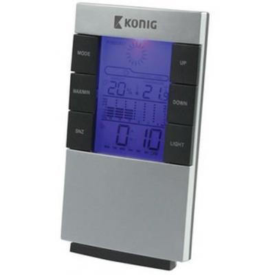 König weerstation: LCD-klok en weerstation - Zilver