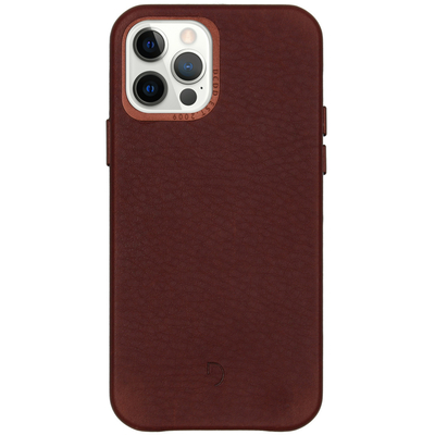 Decoded Leather Backcover iPhone 12 (Pro) - Chocolate Brown - Bruin / Brown Mobile phone case